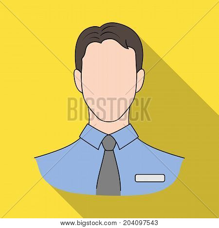 Person, single icon in flat style.Person, vector symbol stock illustration .