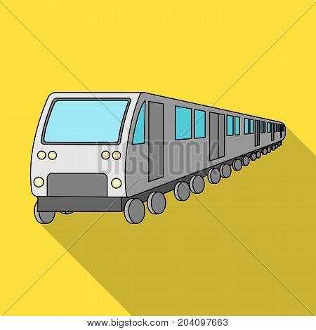 Train, single icon in flat style.Train, vector symbol stock illustration .