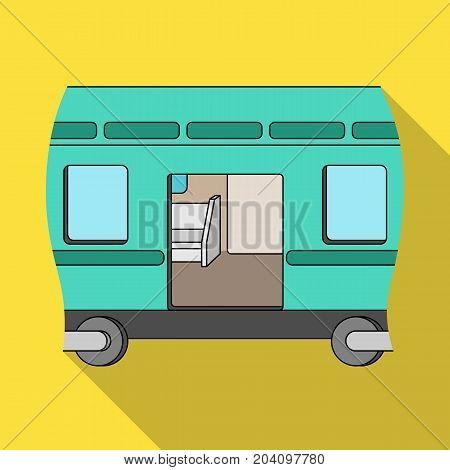 Wagon, single icon in flat style.Wagon vector symbol stock illustration .