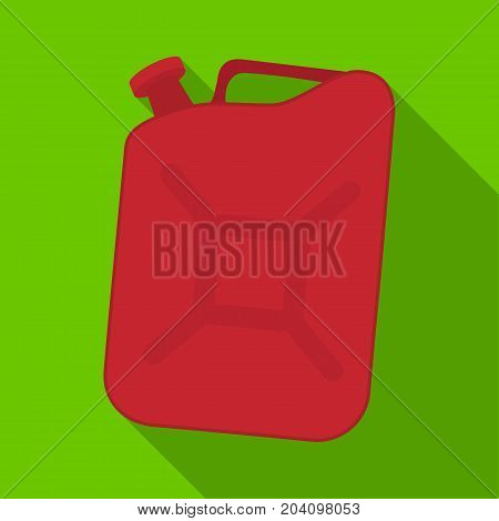 Canister single icon in flat style.Canister vector symbol stock illustration .