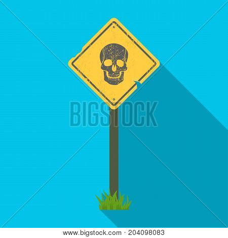 Sign, single icon in flat style.Sign, vector symbol stock illustration .