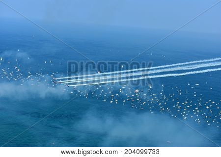 Chicago, Illinois - Usa - August 19, 2017: 59Th Chicago Air Show