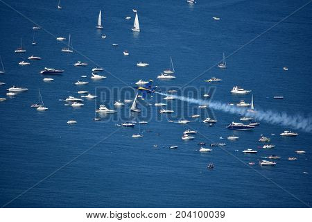 Chicago, Illinois - Usa - August 19, 2017: Chicago Water Show