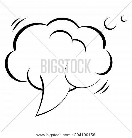 Empty frame. Monochrome. Vector cloud template. White and black.