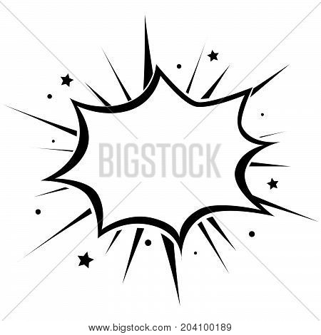 Empty frame. Monochrome. Vector star template. White and black.