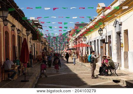 December 3 2014 San Cristobal de las Casas Mexico: the colonial town is a very popular turist attraction