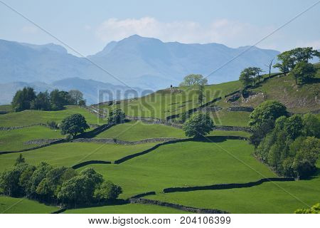Bowfell above Troutbeck Valley, English Lake District