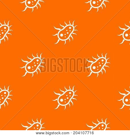 Bacteria centipede pattern repeat seamless in orange color for any design. Vector geometric illustration