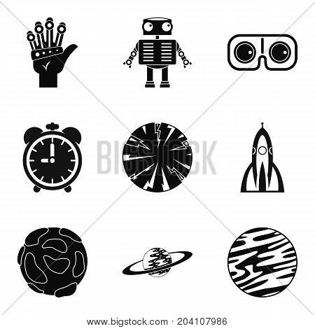 Stargazing icons set. Simple set of 9 stargazing vector icons for web isolated on white background
