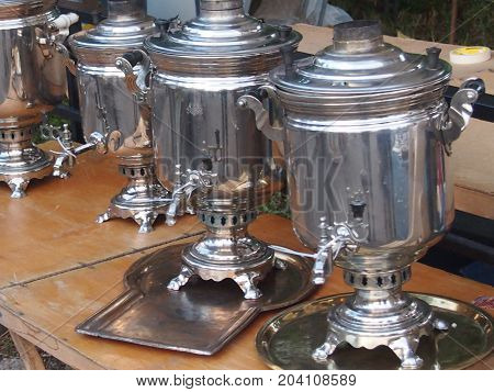 Samovar -- the device for boiling of water and preparation of tea