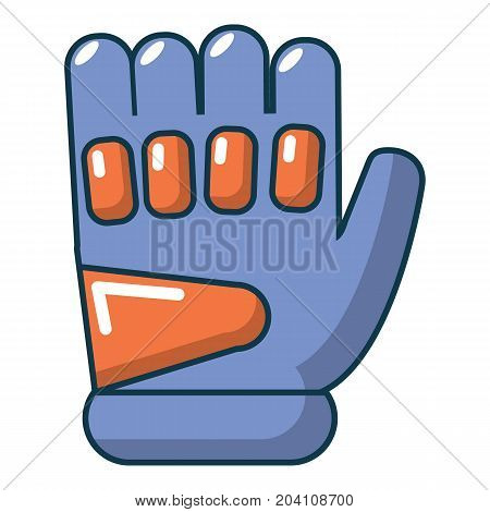 Paintball glove icon. Cartoon illustration of paintball glove vector icon for web