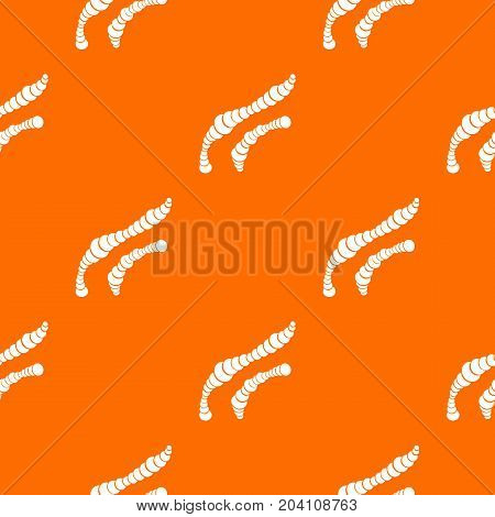 Spiral bacteria pattern repeat seamless in orange color for any design. Vector geometric illustration