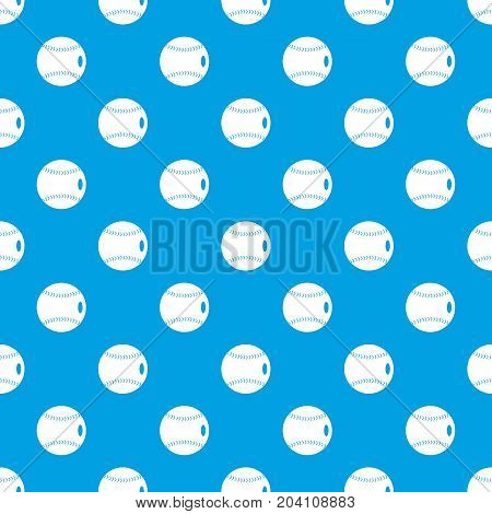 Baseball ball pattern repeat seamless in blue color for any design. Vector geometric illustration