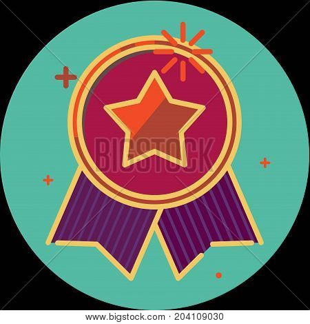 Best of badge with ribbon icon award champion label icon