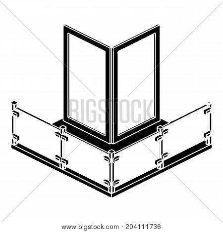 Corner glass balcony icon. Simple illustration of corner glass balcony vector icon for web design isolated on white background