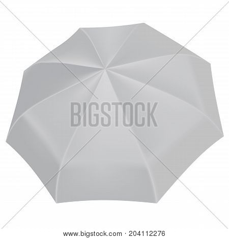 Open umbrella mockup. Realistic illustration of open umbrella vector mockup for web design isolated on white background