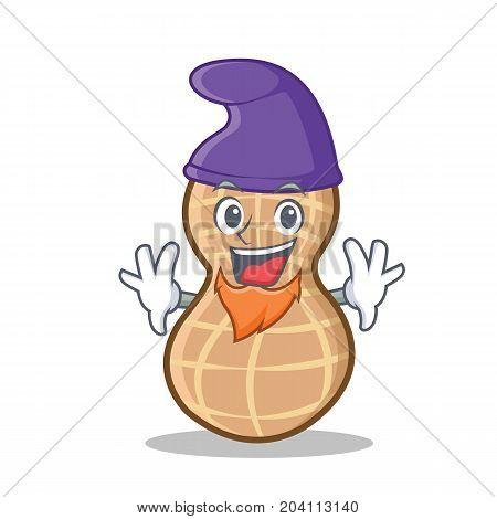 Elf peanut character cartoon style vector illustration