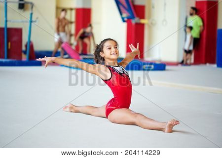 Verona, Italy - August 24, 2017: Training Of Children In The Gymnastics Section.