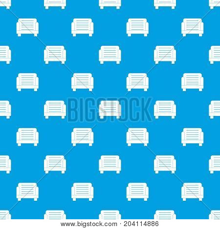 Armchair pattern repeat seamless in blue color for any design. Vector geometric illustration