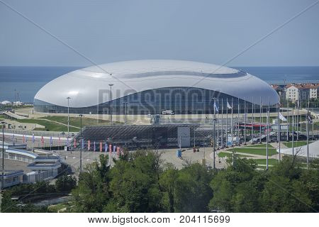 Sochi, Russia - September 11: Bolshoy Ice Dome Games at the Olympic Park on September 11, 2017