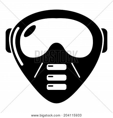 Paintball mask equipment icon. Simple illustration of paintball mask equipment vector icon for web design