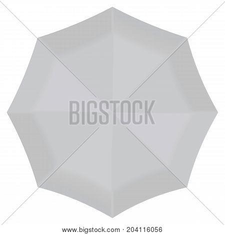 Front round umbrella mockup. Realistic illustration of front round umbrella vector mockup for web design isolated on white background