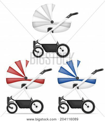 baby carriage stock vector illustration isolated on white background