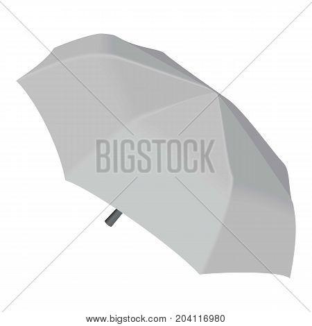 Short umbrella mockup. Realistic illustration of short umbrella vector mockup for web design isolated on white background