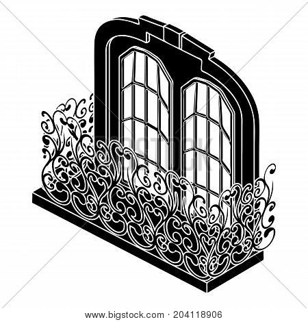 Castle balcony icon. Simple illustration of castle balcony vector icon for web design isolated on white background