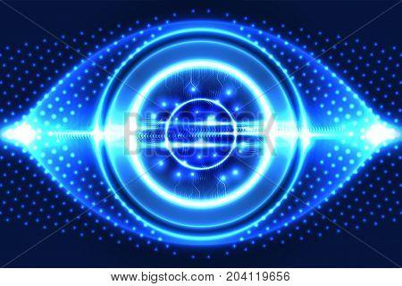 Digital technology background, futuristic technology business. Illustration vector