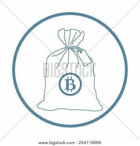 Stylized Icon Of A Knotted Bag With Money.