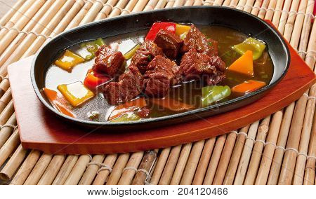 Chinese Dish - Beef With Vegetables Close-up