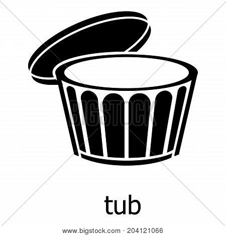 Tub icon. Simple illustration of tub vector icon for web