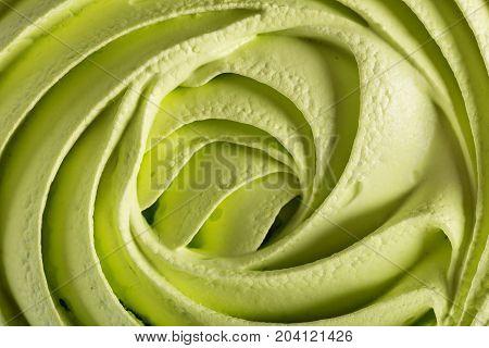 Green Meringue Swirl As Food Background