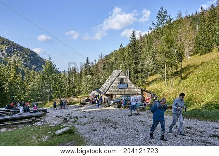 Zakopane, Poland - September 9, 2017: Strazyska Valley In Tatra