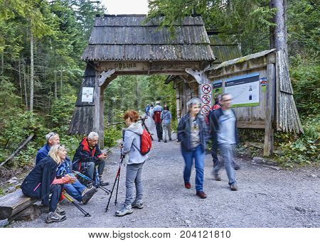 Zakopane, Poland - September 9, 2017: Entrance To The Tatra Nati