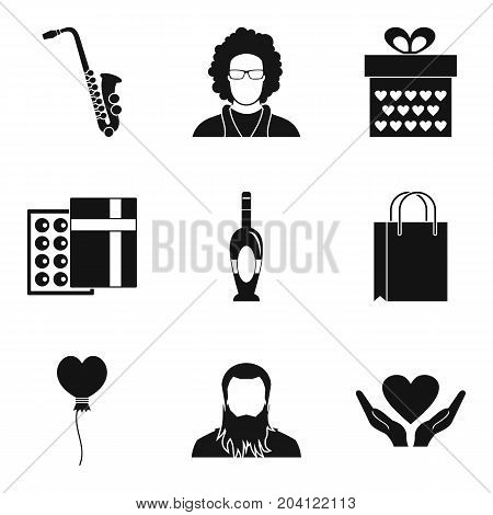 Perfect place icons set. Simple set of 9 perfect place vector icons for web isolated on white background