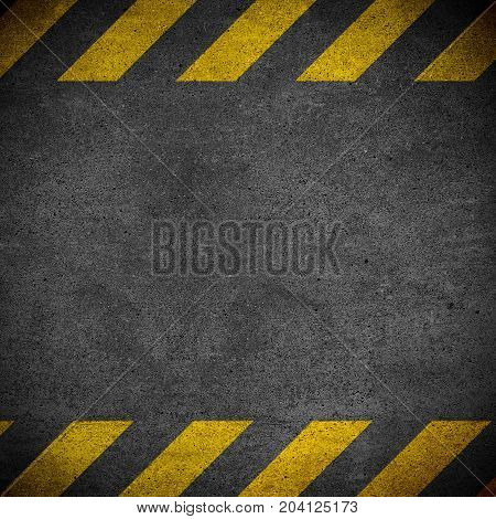 Black And Yellow Worning Board