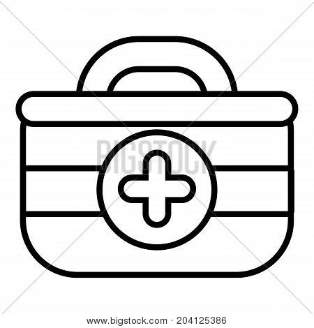 First aid kit icon. Outline illustration of first aid kit vector icon for web design isolated on white background