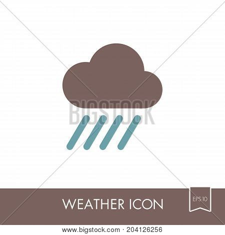 Rain Cloud Outline Vector & Photo (Free Trial) | Bigstock