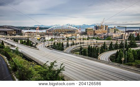Seattle - June 2017: Century Link Field Stadium. Home Of Seattle Seahawks On June 2017 In Seattle Wa