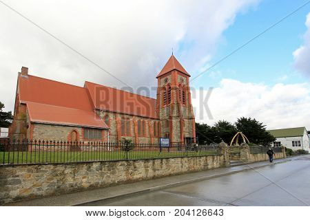 Christ Church Cathedral in Port Stanley, Falkland Islands, Islas Malvinas
