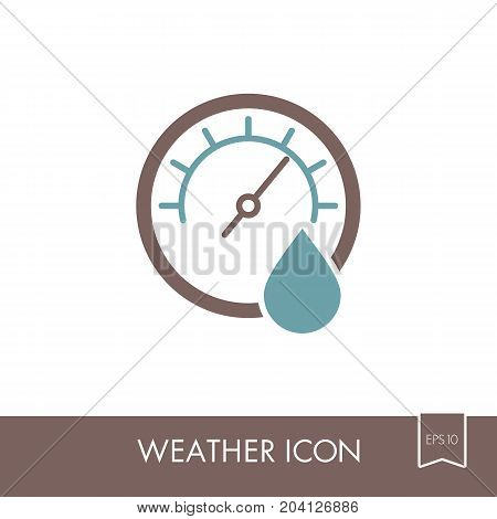 Hygrometer icon. Meteorology. Weather. Vector illustration eps 10