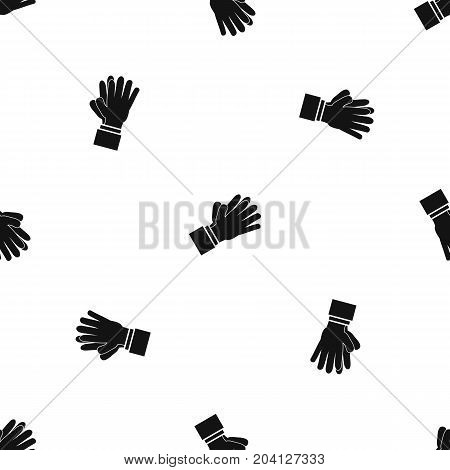 Clapping applauding hands pattern repeat seamless in black color for any design. Vector geometric illustration