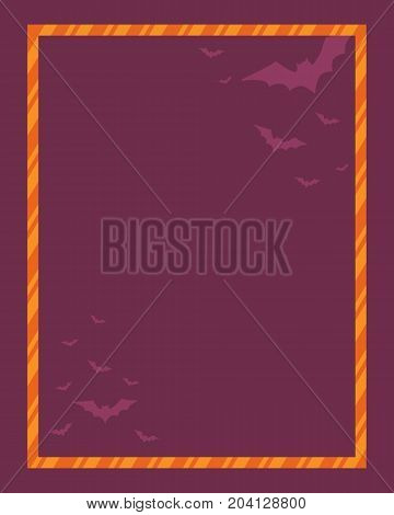 Style Halloween frame collection stock vector illustration