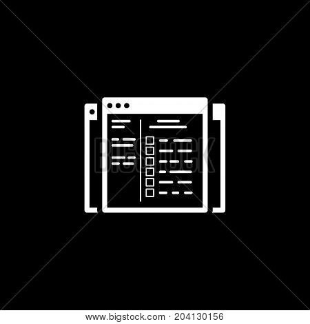 Set Up Ads Icon. Business and Finance. Isolated Illustration. Web Pages with campaign settings and check boxes.
