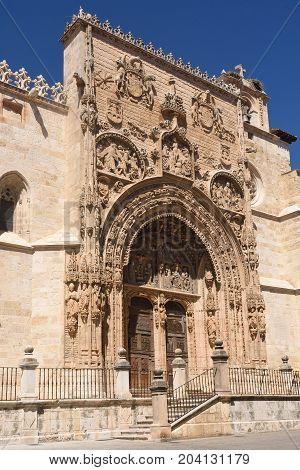 Entrance Of The Gothic Church Of Santa Maria La Real, Aranda De Duero, Burgos Province, Castilla Y L