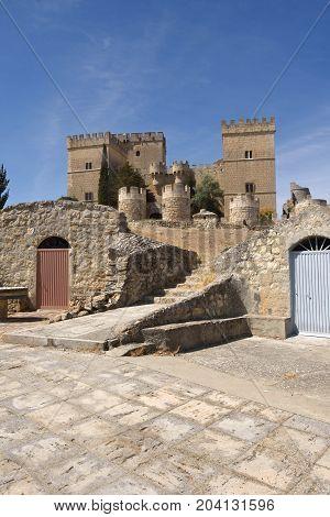 Castle Of Ampudia,  Tierra De Campos Region, Palencia Province, Castilla Y Leon, Spain