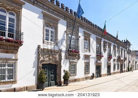 City Hall Of The City Of Viana Do Castelo In Portugal