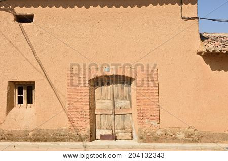 Traditional House Of Valqunquillo, Tierra De Campos, Valladolid Province, Spain